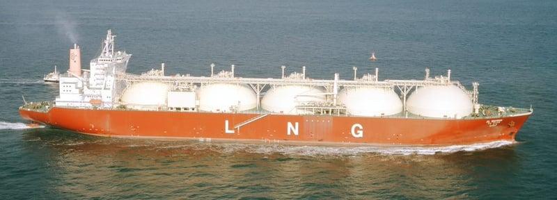 MOL LNG船 モス型