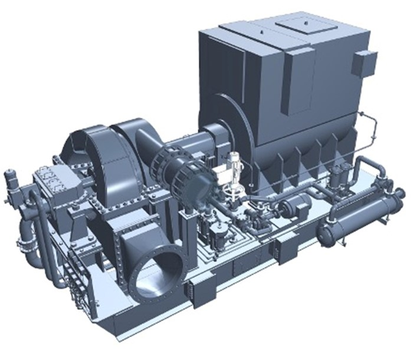 タービン発電機イメージ図(三菱重工マリンマシナリ株式会社)
