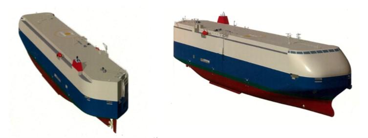 ISHIN PCC wing assist hull design