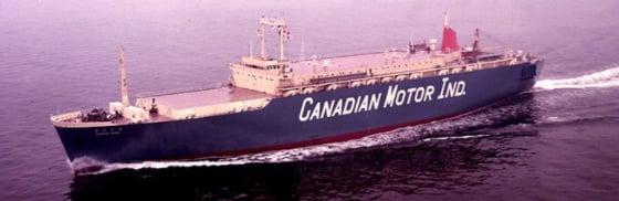 1971年 商船三井自動車専用船 かなだ丸 1時間に250台積載可能