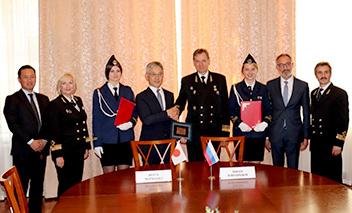 商船三井とロシアのマカロフ海事大学との船員教育における連携。