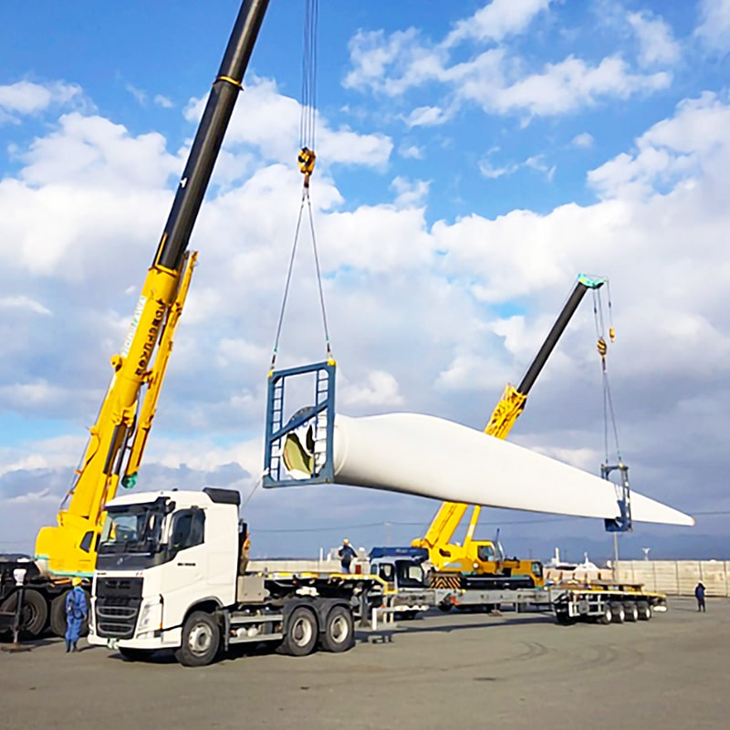 运输风力发电设施