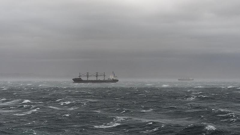 台風来襲時の走錨海難の防止